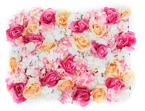 Flower Wall - Rose & Hydrangea (Pink, White, Peach)