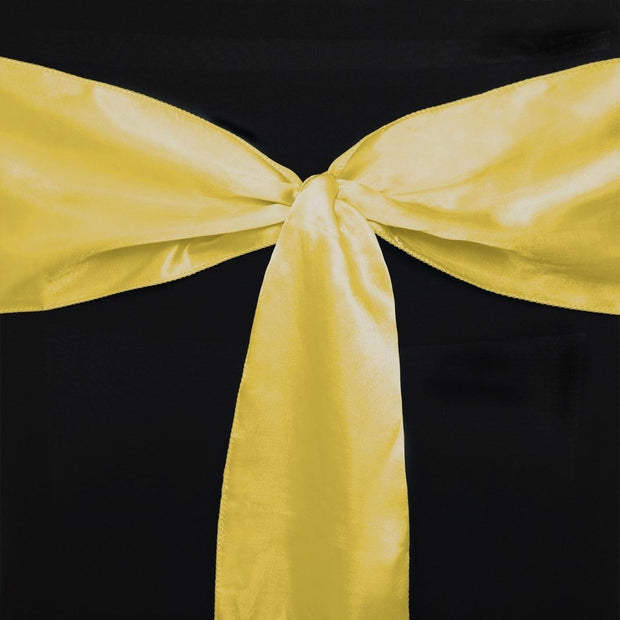Satin Chair Sashes Detail - Yellow