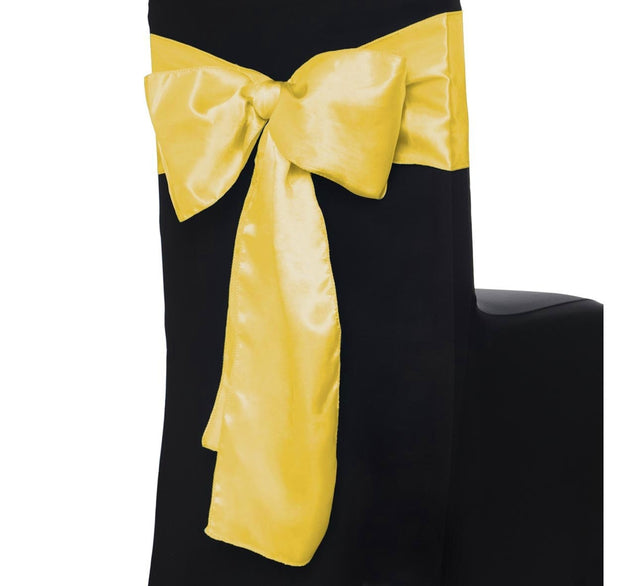 Satin Chair Sashes - Yellow