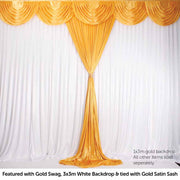 Gold Ice Silk Satin Backdrop Convertible Panels 1mx3m