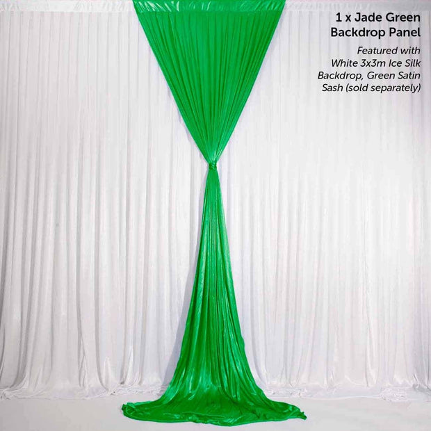 Emerald Green (Jade) Ice Silk Satin Backdrop Convertible Panels 1mx3m