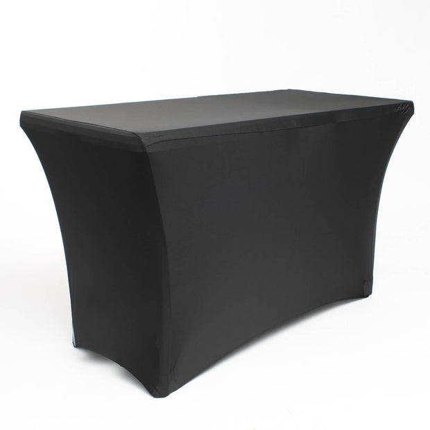 Black Lycra Fitted Tablecloth (4ft)