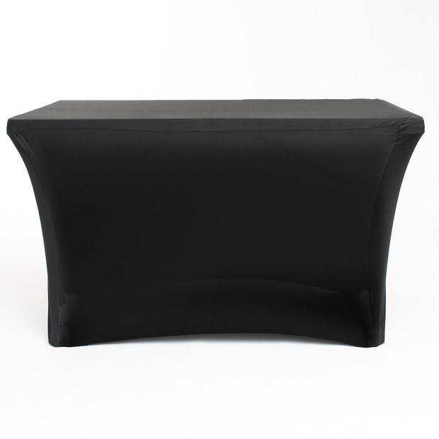 Black Lycra Fitted Tablecloth (4ft) Front