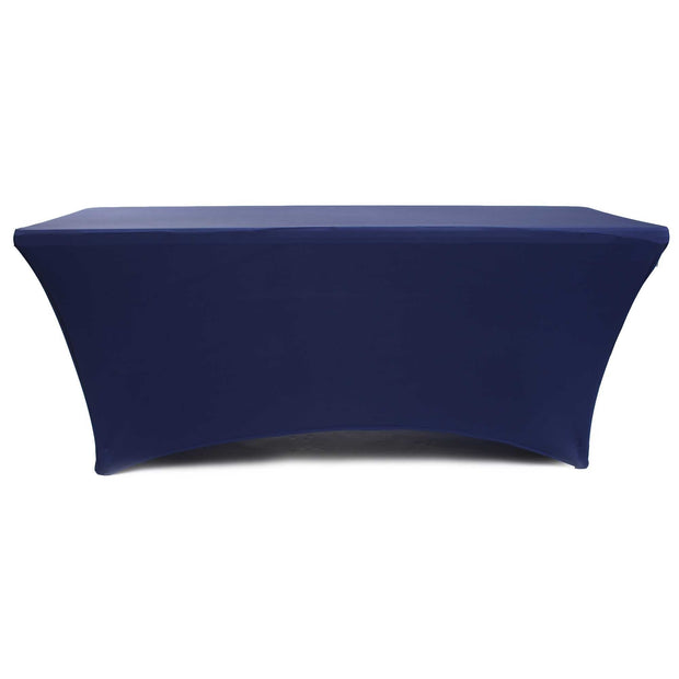 Navy Lycra Fitted Tablecloth (6ft) Rear