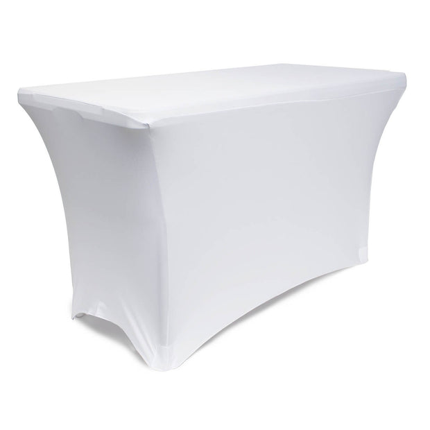 White Lycra Fitted Tablecloth (4ft)