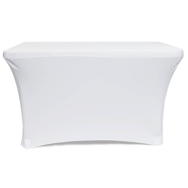 White Lycra Fitted Tablecloth (4ft) Rear