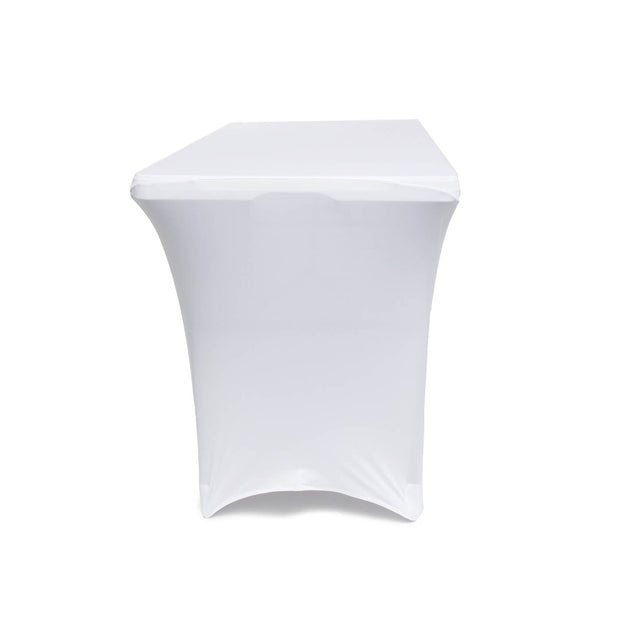 White Lycra Fitted Tablecloth (4ft) side