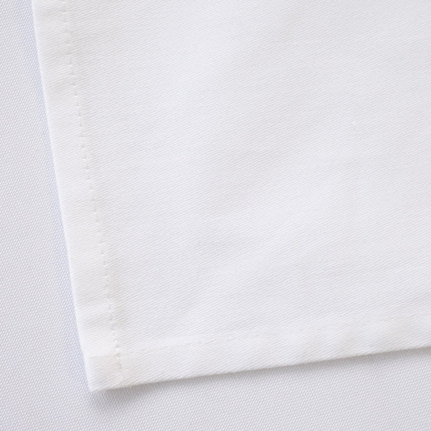 Cotton Napkins - White (50x50cm) Hemmed Edge