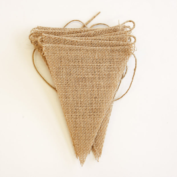 Bunting - Hessian Plain Triangles