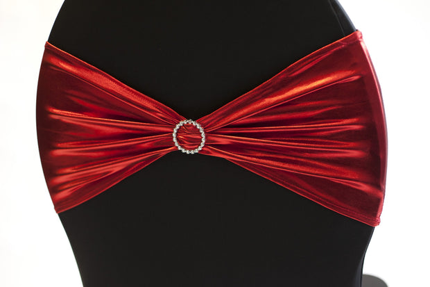 Lycra Chair Bands - Metallic Red