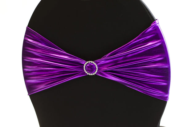 Lycra Chair Bands detial - Metallic Purple