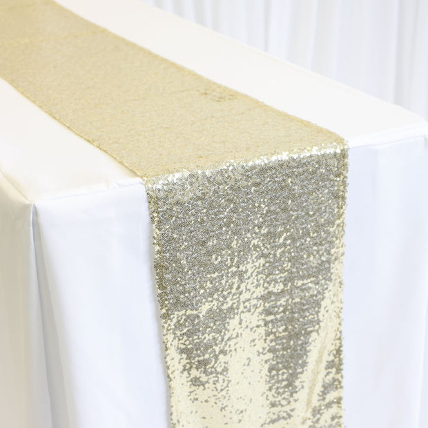 Sequin Table Runner - Champagne Gold