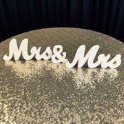Mrs & Mrs Wooden Letter Set