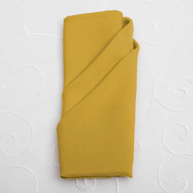 Cloth Napkins - Bright Gold (50x50cm)