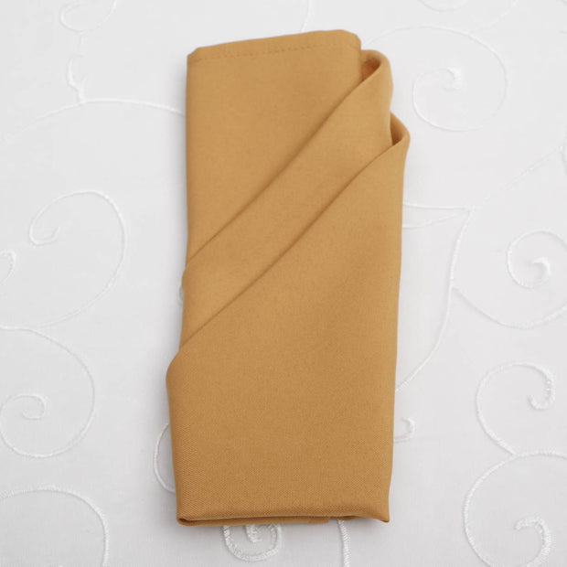 Cloth Napkins - Gold (50x50cm)