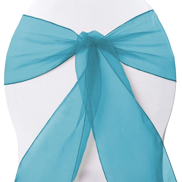 Organza Chair Sashes detail - Electric Blue