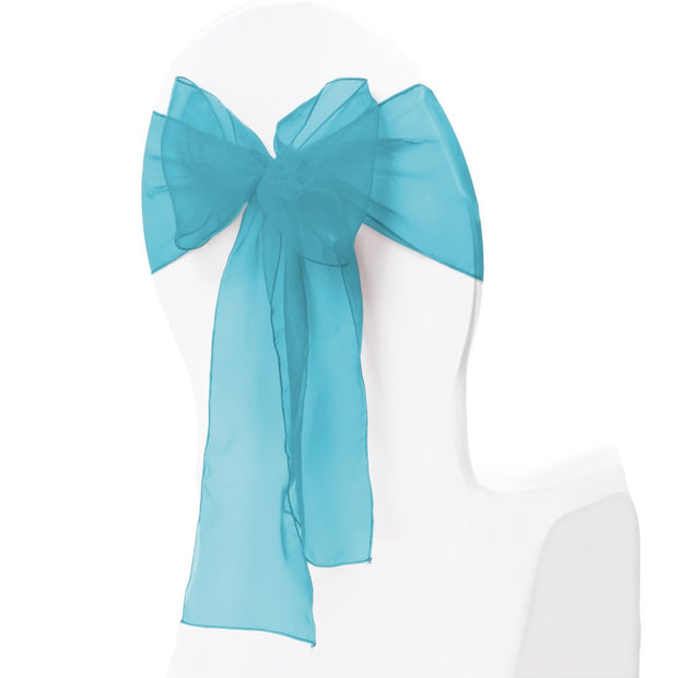 Organza Chair Sash oblique view - Electric Blue