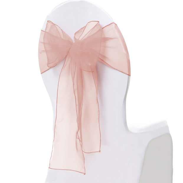 Organza Chair Sash oblique view - Blush