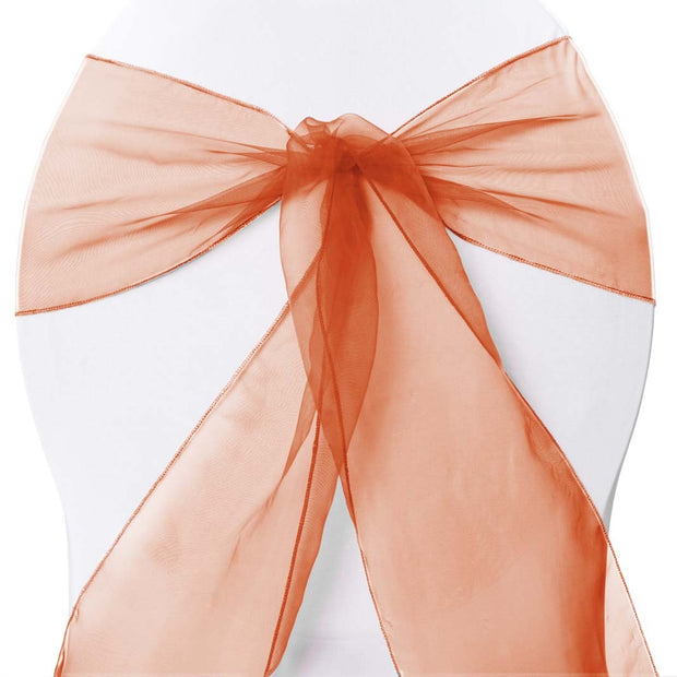 Organza Chair Sashes - Orange