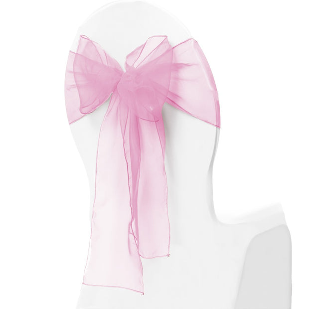 Organza Chair Sash oblique view - Light Pink