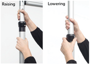 Raising and Lowering Backdrop Stand Upright Pole