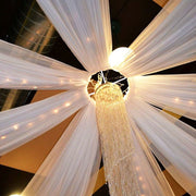 12 Piece Chiffon Ceiling Draping with Centre Ring View From Below