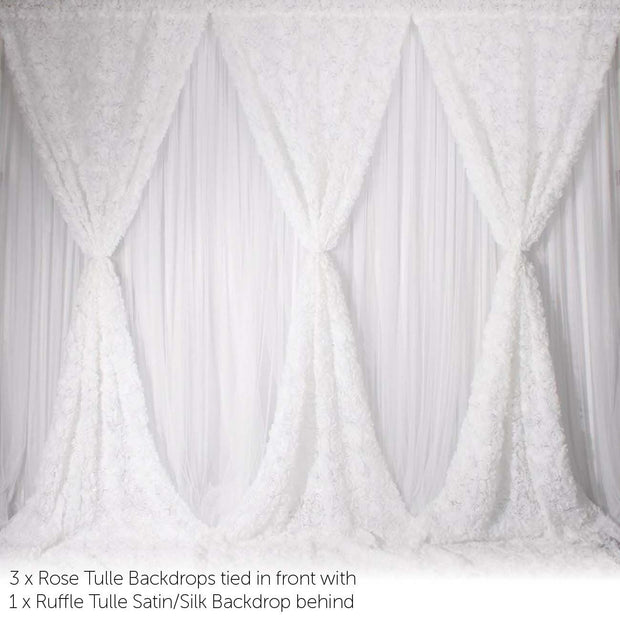 Stand Set For 6x3m Backdrop - Deluxe Example Backdrop Sold Separately