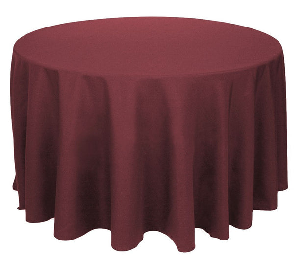 Burgundy Round Tablecloth (260cm)