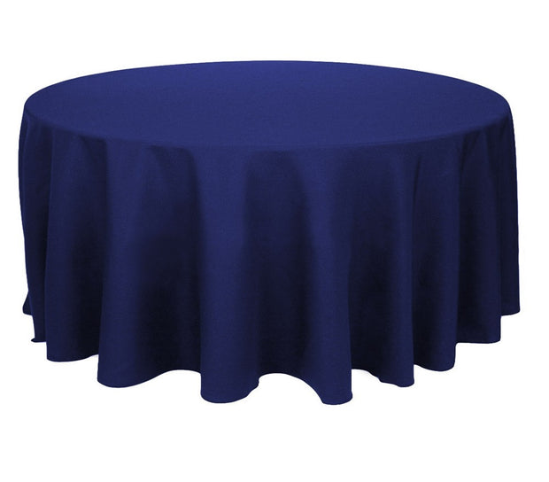 Navy Round Tablecloth (300cm)