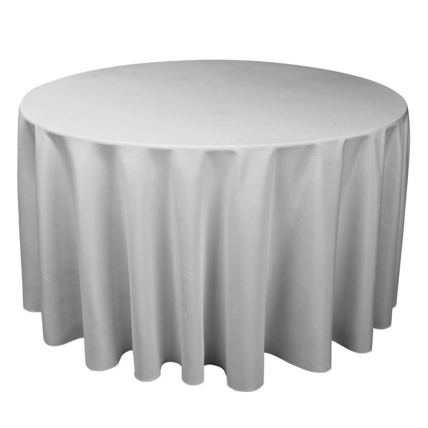 Silver Grey Round Tablecloth (260cm)
