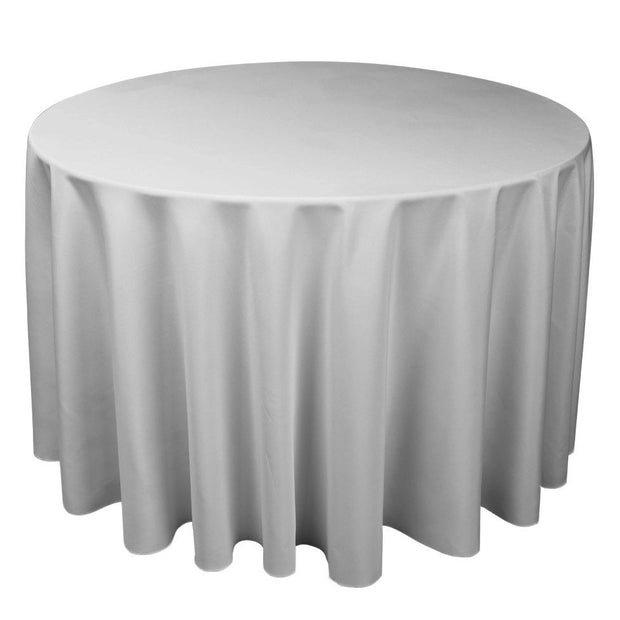 Silver Grey Round Tablecloth (300cm)