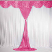 Hot Pink Ice Silk Satin Backdrop Convertible Panels 1mx3m