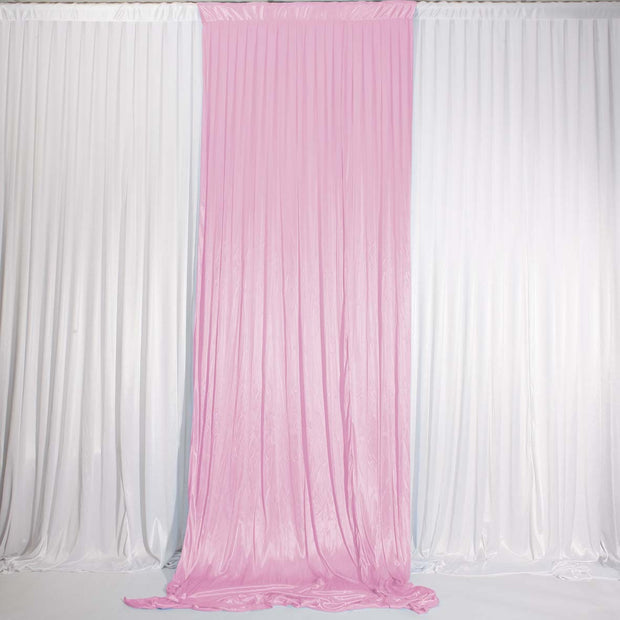 Light Pink Ice Silk Satin Backdrop Convertible Panels 1mx3m