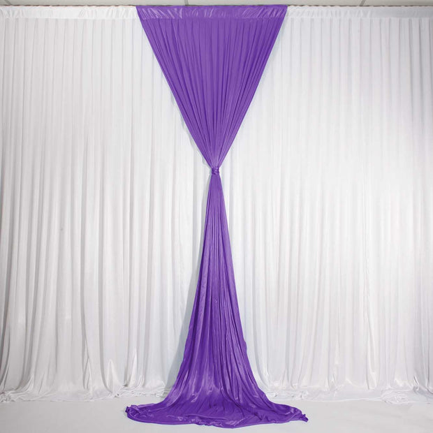 Purple Ice Silk Satin Backdrop Convertible Panels 1mx3m