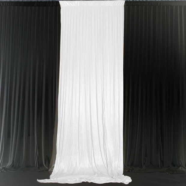 White Ice Silk Satin Backdrop Convertible Panels 1mx3m