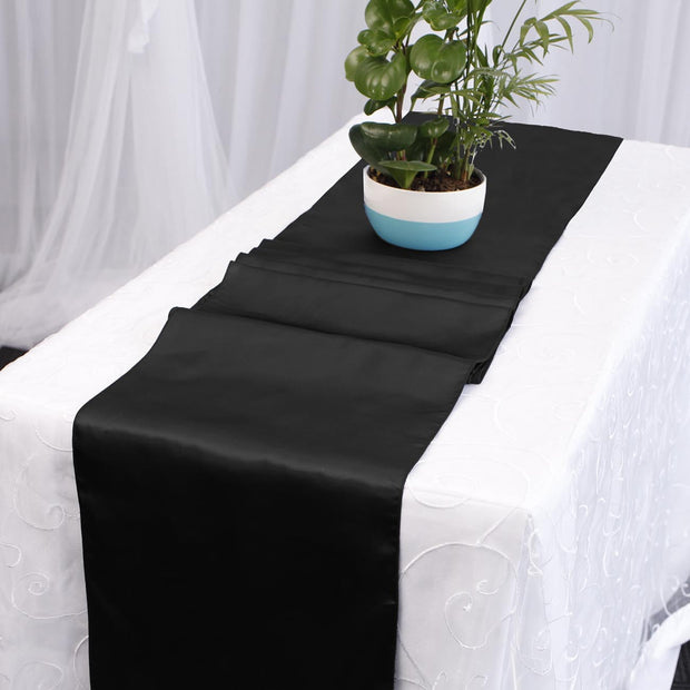 Satin Table Runners - Black
