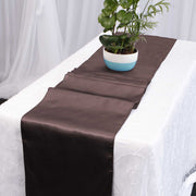 Satin Table Runners - Chocolate Brown