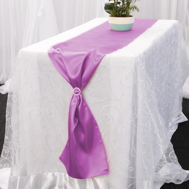 Clearance Satin Table Runners - Fuchsia