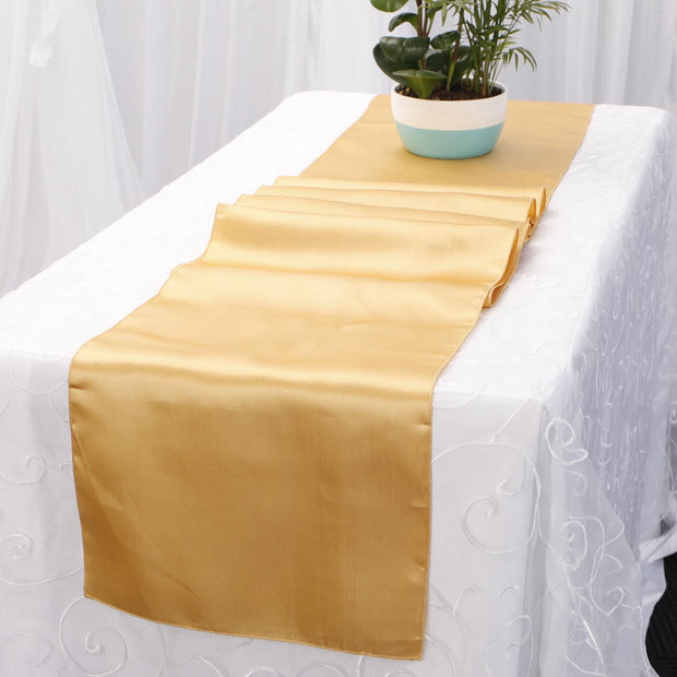 Satin Table Runners - Gold