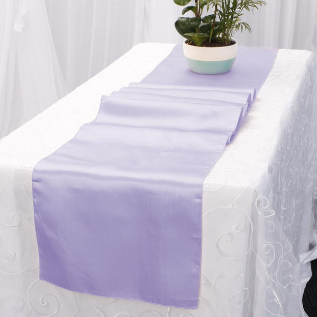 Satin Table Runners - Lavender