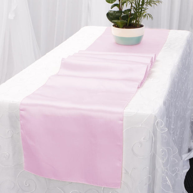 Satin Table Runners - Light Pink