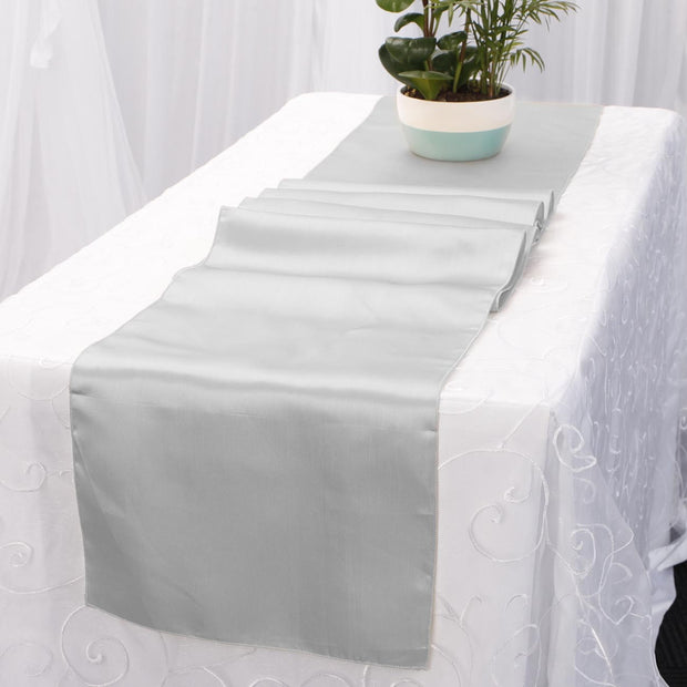 Satin Table Runners - Silver