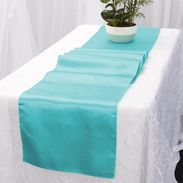 Satin Table Runners - Turquoise
