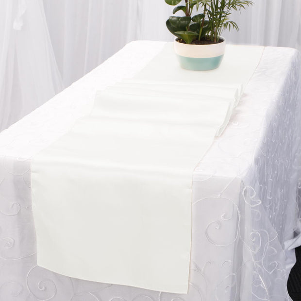 Satin Table Runners - White