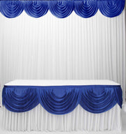 Ice Silk Satin 3m Swag  - Royal Blue