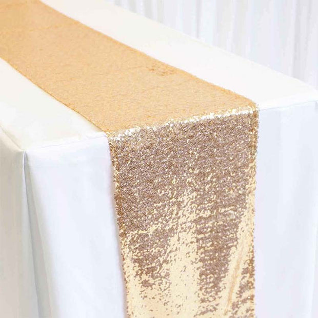 Sequin Table Runner - Antique Gold