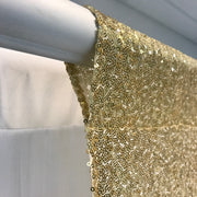 Champagne Gold Sequin Backdrop Curtain 3m x 1.25m Curtain Rod Hole