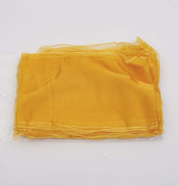 Clearance Organza Chair Sashes - Sunshine Yellow