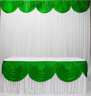 Ice Silk Satin 3m Swag  - Emerald Green (Jade)
