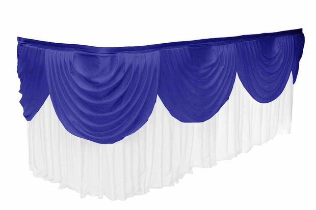 Ice Silk Satin 3m Swag  - Royal Blue Fitted To Ice Silk Satin Skirt